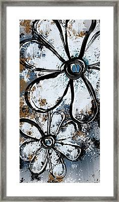 Painted Flowers 8 Framed Print by Melissa Smith