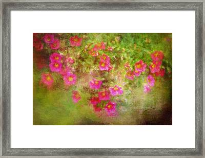 Painted Flowers Framed Print