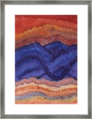 Painted High Desert Original Painting Framed Print by Sol Luckman