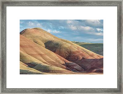 Painted Hill And Clouds Framed Print by Greg Nyquist