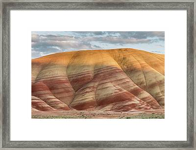 Framed Print featuring the photograph Painted Hill At Last Light by Greg Nyquist