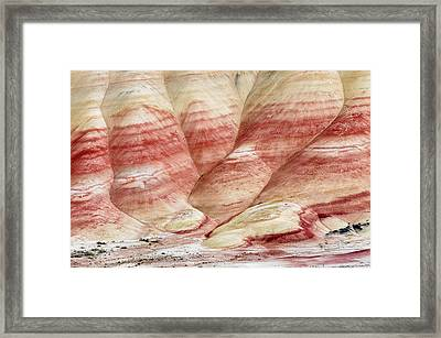 Framed Print featuring the photograph Painted Hill Bumps by Greg Nyquist