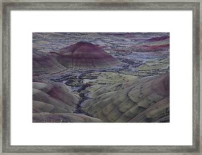 Painted Hills 2 Framed Print by Ken Dietz
