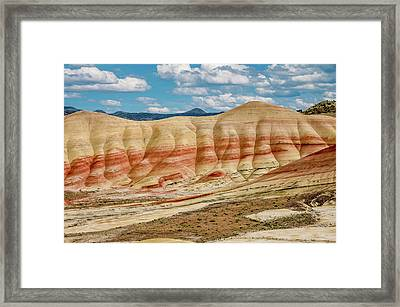 Painted Hills And Afternoon Sky Framed Print by Greg Nyquist