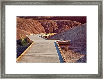 Painted Hills Boardwalk Framed Print by Jerry Fornarotto