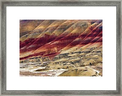 Painted Hills Contour Framed Print by Mike  Dawson