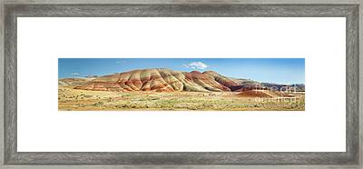 Painted Hills Pano 1 Framed Print by Jerry Fornarotto