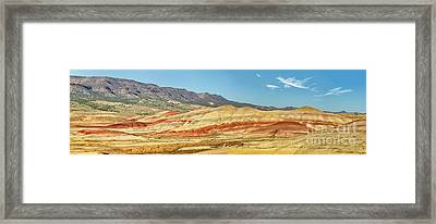 Painted Hills Pano 2 Framed Print by Jerry Fornarotto