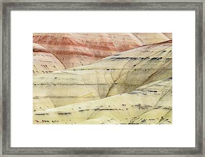 Painted Hills Ridge Framed Print by Greg Nyquist