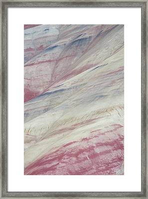 Painted Hills Textures 3 Framed Print by Leland D Howard