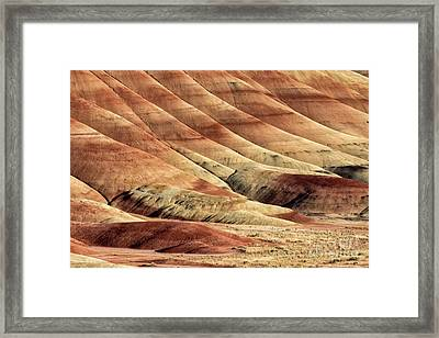 Painted Hills Textures Framed Print by Jerry Fornarotto