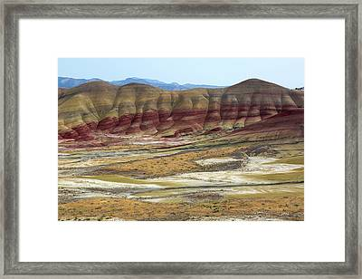 Painted Hills View From Overlook Framed Print