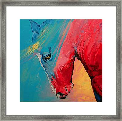 Painted Horse Framed Print by Michael Creese