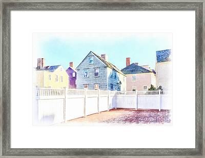 Painted Houses Portsmouth Framed Print by Edward Fielding