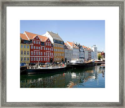 Painted Houses Framed Print