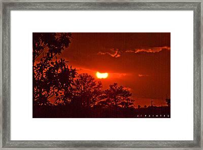 Painted Framed Print by Jonathan Ellis Keys