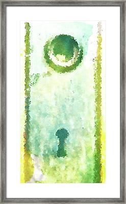 Painted Key Hole Framed Print
