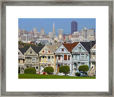 Painted Ladies Framed Print