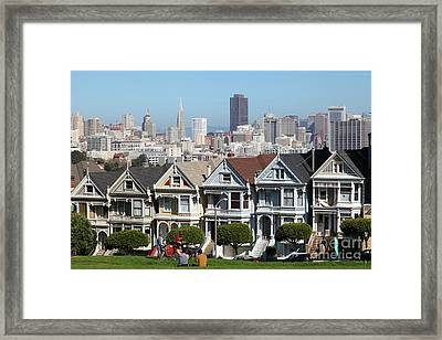 Painted Ladies Of Alamo Square San Francisco California 5d27996 Framed Print