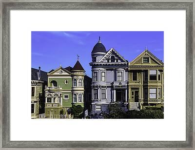 Painted Ladies Of San Francisco  Framed Print by Garry Gay