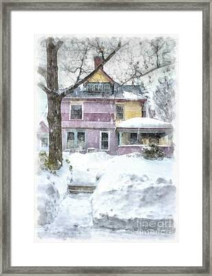 Painted Lady Snowstorm Framed Print