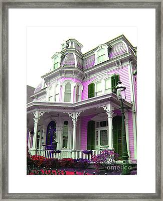 Framed Print featuring the photograph Painted Lady -  Victorian Age  by Susan Carella