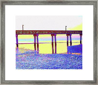 Painted Low Tide Reflected Framed Print by Chris Andruskiewicz