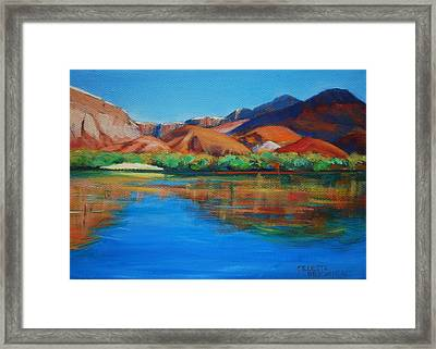 Marble Canyon Painted Framed Print by Celeste Drewien