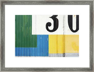 Painted Metal Building Abstract Framed Print