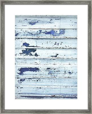 Painted Metal Surafce Framed Print