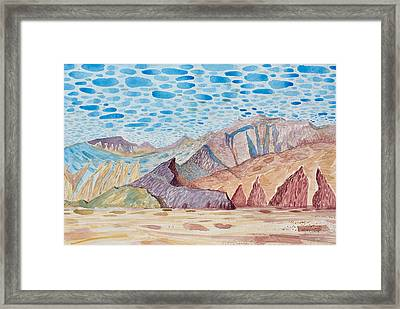 Painted Mountain II Framed Print by Vaughan Davies