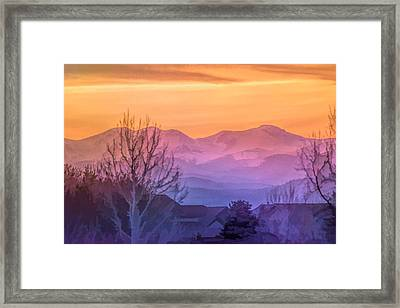 Painted Mountains Framed Print
