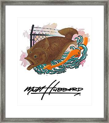 Painted Framed Print by Mutt Hubbard