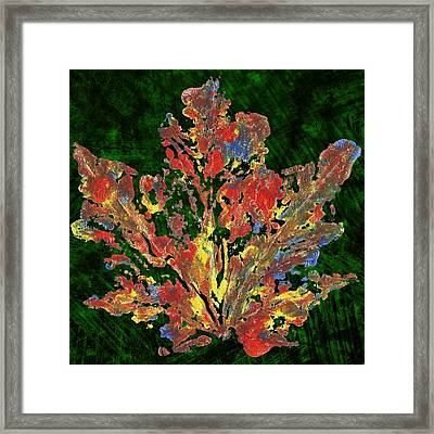 Framed Print featuring the painting Painted Nature 1 by Sami Tiainen