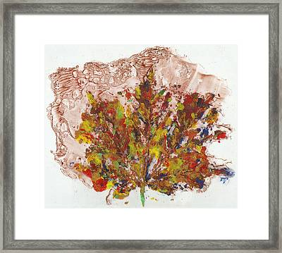 Framed Print featuring the painting Painted Nature 3 by Sami Tiainen