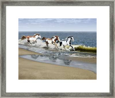 Painted Ocean Framed Print by Barbara Hymer