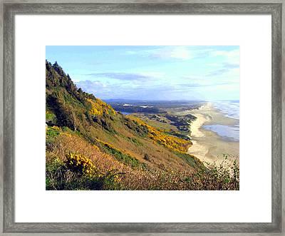 Painted Oregon Coast Framed Print