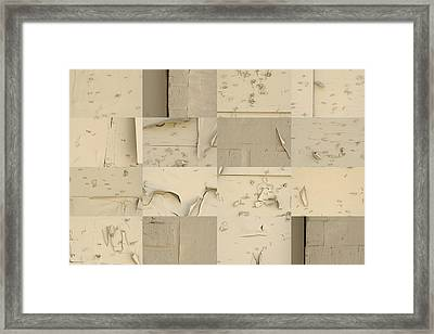 Painted Over Message Board Framed Print by Robert Glover