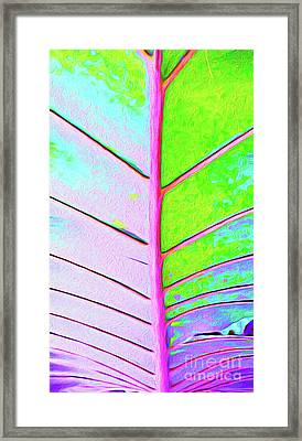Painted Palm Leaf Framed Print by Chris Andruskiewicz