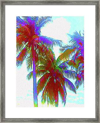 Painted Palms IIi Framed Print by Chris Andruskiewicz