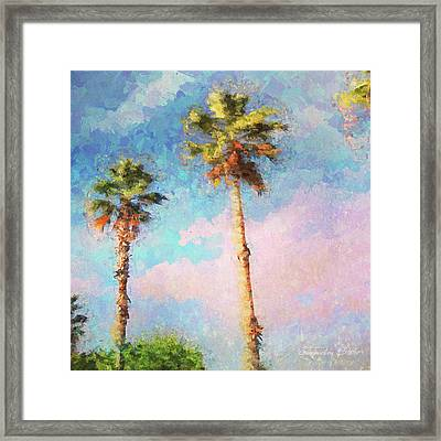 Painted Palms Framed Print