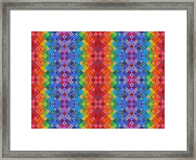 Painted Patchwork Framed Print by Jane Tattersfield
