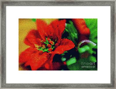 Painted Poinsettia Framed Print by Sandy Moulder