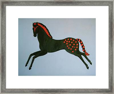 Framed Print featuring the painting Painted Pony by Stephanie Moore