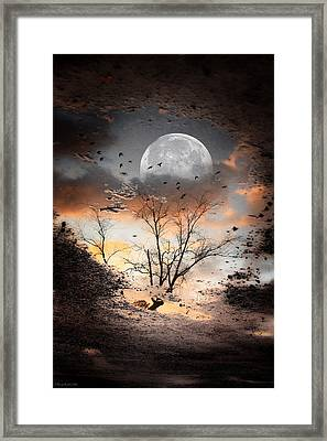 Painted Puddle Framed Print