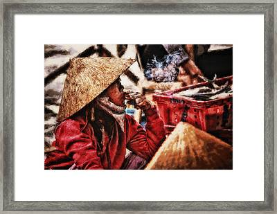 Painted Puffer Framed Print