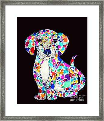 Painted Puppy 2 Framed Print by Nick Gustafson
