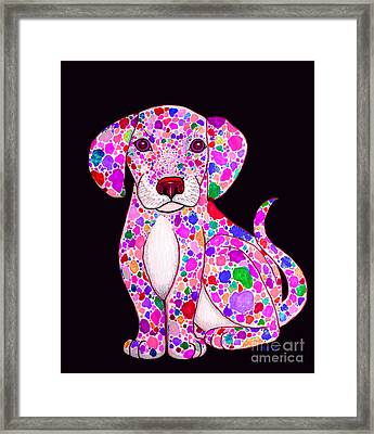 Painted Puppy 3 Framed Print