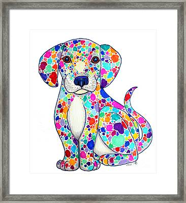 Painted Puppy Framed Print