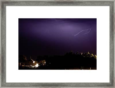 Painted Purple Framed Print by Matt Dobson